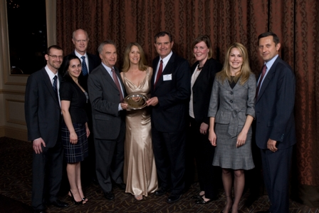 PECO leadership and staff accept SeniorLAW Center's 2010 Partner of the Year Award with Executive Director Karen Buck